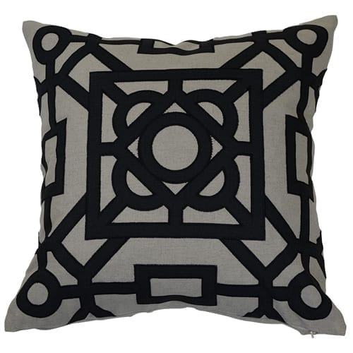 Beatrice Black Cushion Cover | Theo and Joe