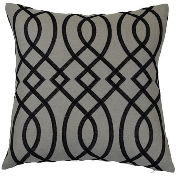 Bianca Black Cushion Cover Theo and Joe