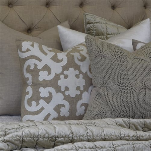 Barbara Ivory Cushion Cover | Theo and Joe