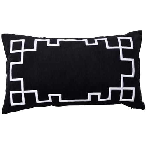 Palm Springs Black Rectangle Cushion Cover | Theo and Joe