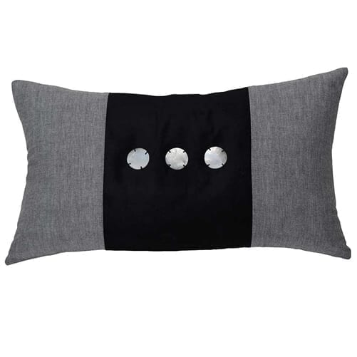Benjamin Black Rectangle Cushion Cover | Theo and Joe