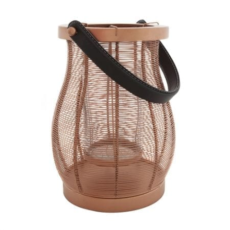 Koh Copper Wire Hurricane Candle Holder Small