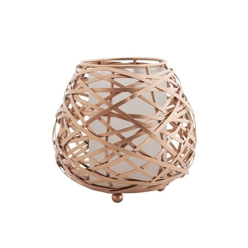 Koh Oval Candle Holder Copper Medium