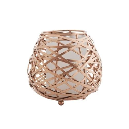 Koh Oval Candle Holder Copper Medium