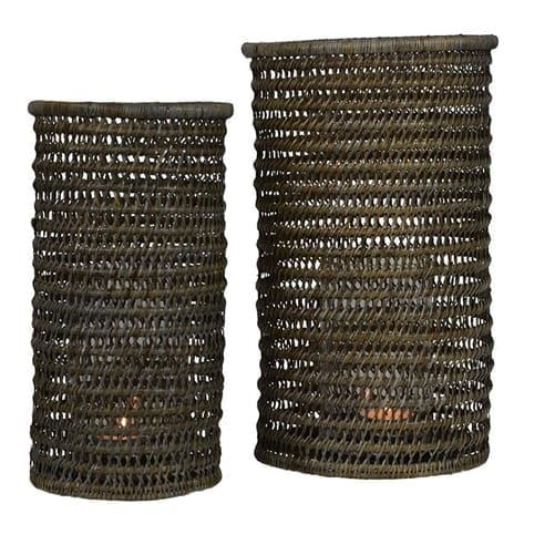 Sumatra Lantern Natural Set of 2 | Theo and Joe