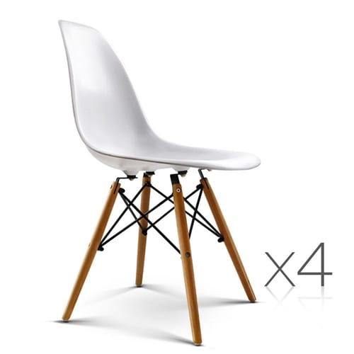 Replica eames dsw eiffel dining chair white 4 contemporary pieces - Eames eiffel chair replica ...