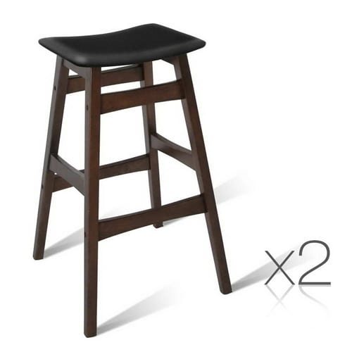 Rubber Wood Bar Stools Black 2 Contemporary Pieces : BA TW T6028 BKX2 21 from www.contemporarypieces.com size 500 x 500 jpeg 61kB
