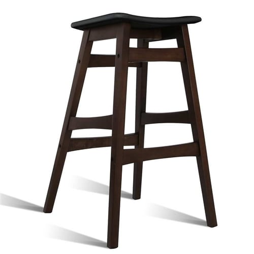Rubber Wood Bar Stools Black 2 Contemporary Pieces : BA TW T6028 BKX2 41 from www.contemporarypieces.com size 500 x 500 jpeg 60kB