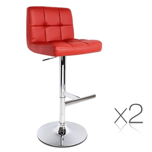 Kitchen Swivel Bar Stool Red | 2