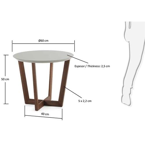 Rondo Side Table | Grey & Walnut