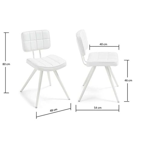 Lola Chair White | Set of 2