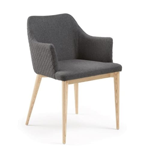 Danai Quilted Armchair | Dark Grey