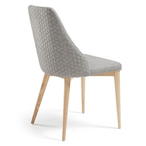 Roxie Qulited  Chair | Light Grey | Set of 2
