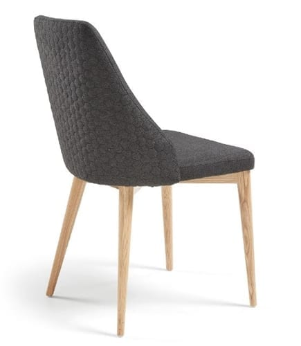 Roxie Quilted Chair Dark Grey | 2