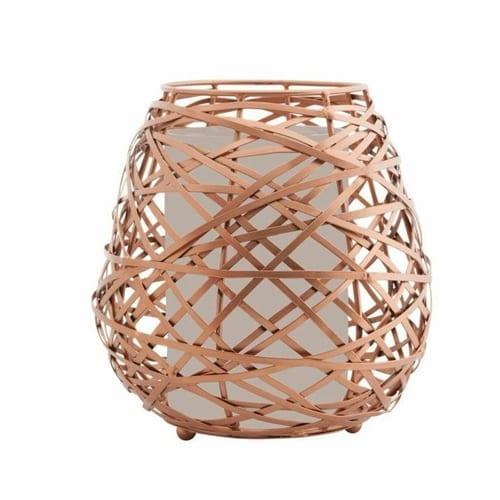 Koh Living Oval Copper Candle Holder | Large