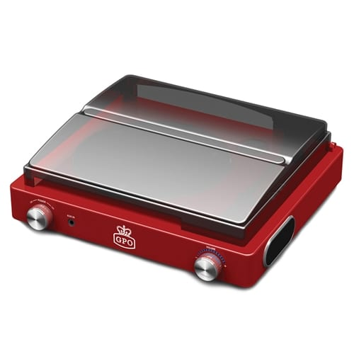 GPO Stylo Vinyl Turntable Record Player - Red