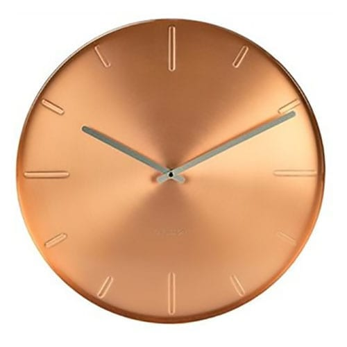 Karlsson Belt Wall Clock Copper