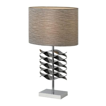 Carlow Black Chrome Table Lamp