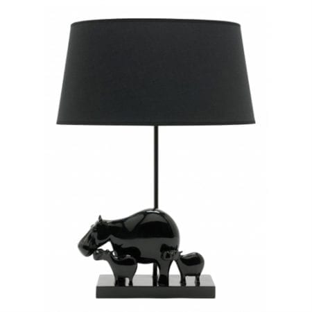Hippo Black Lamp by Lights and Lamps