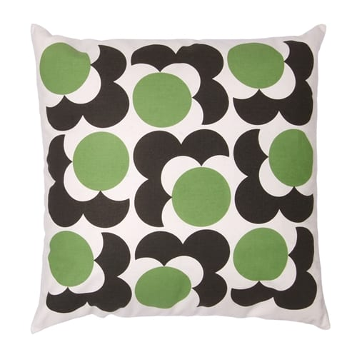 Orla Kiely Big Spot Shadow Flower Cushion | Grass