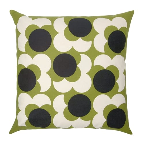 Orla Kiely Big Spot Shadow Flower Cushion | Lemon