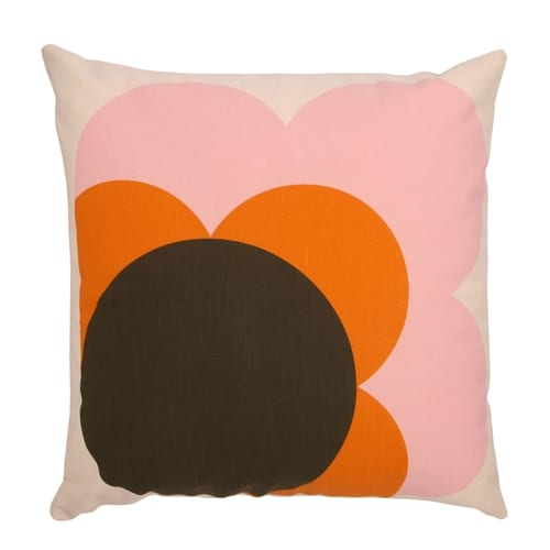 Orla Kiely Big Spot Shadow Flower Cushion Nutmeg