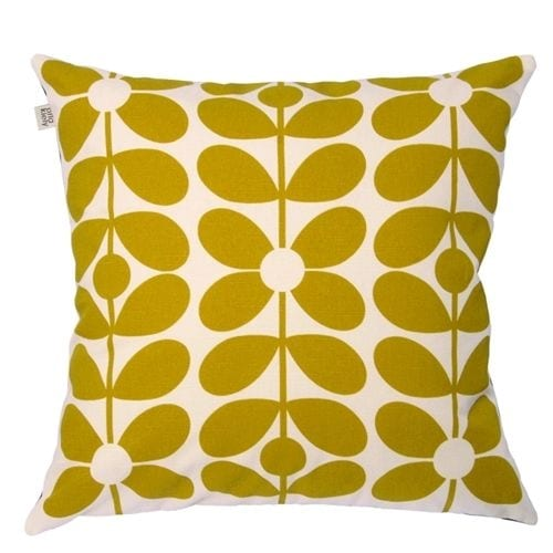 Orla Kiely 60s Stem Cushion | Slate & Yellow