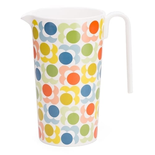 Orla Kiely Melamine Jug Pitcher Shadow Flower