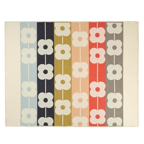 Orla Kiely Giant Abacus Flower Multi Throw | Spring