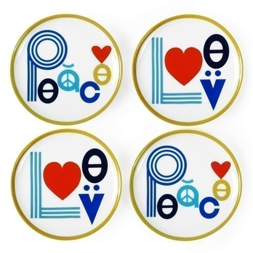 Jonathan Adler Peace and Love Coaster Set