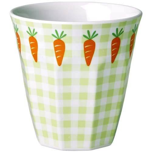 Rice Childrens Melamine Cup | Carrot and Gingham