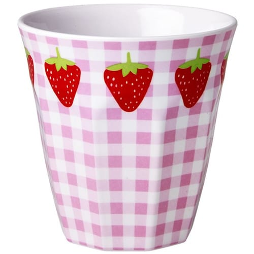 Rice Childrens Melamine Cup | Strawberry