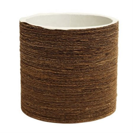Koh Oohh Planter Pot | Corrugated | White | Large