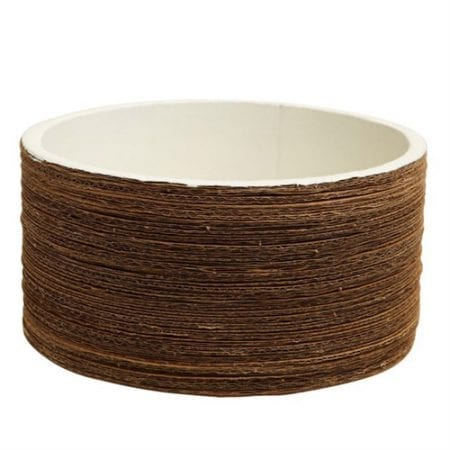 Koh Oohh Corrugated Planter Pot | White | Low