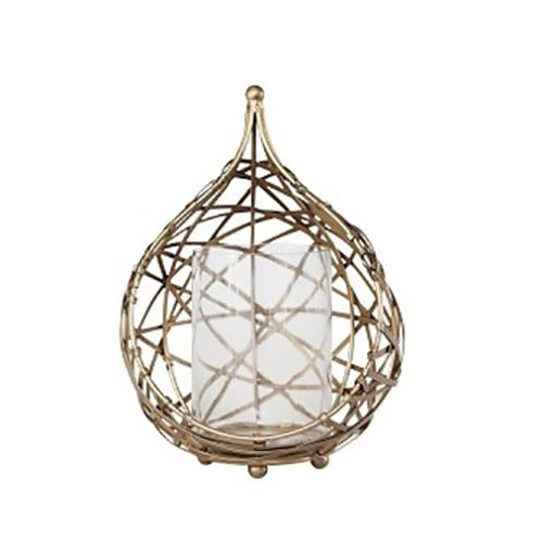 Koh Brass Wire Drop Tealight Candle Holder