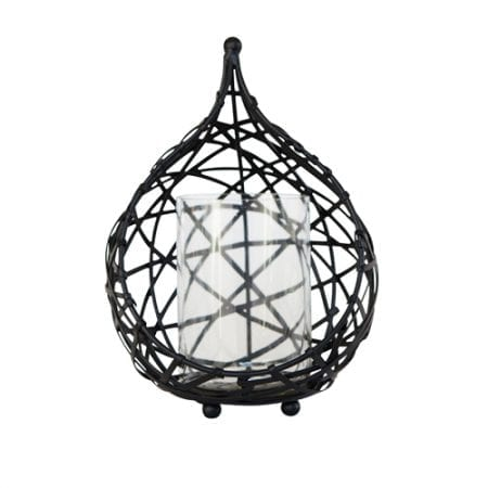 Koh Living Black Wire Drop Candle Holder Medium
