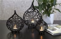 Koh Living Black Wire Drop Candle Holder Medium