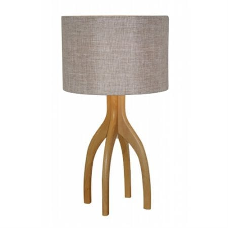 Grigg Table Lamp Natural Linen Drum