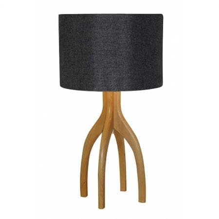 Grigg Table Lamp Grey Cloud | Linen Shade
