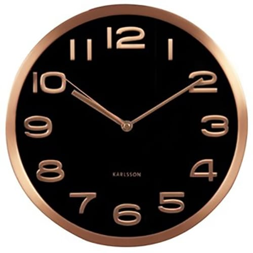 Karlsson Maxie Wall Clock | Copper | Black