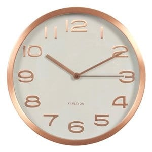 Karlsson Maxie Wall Clock | Copper Numbers | White