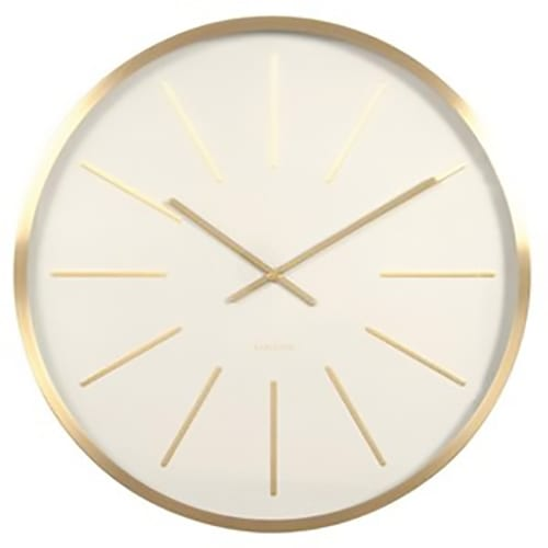 Karlsson Maxiemus Station Wall Clock | Brass | White