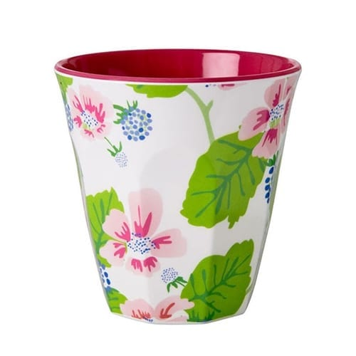 Rice Melamine Cup | Blossoms and Berries