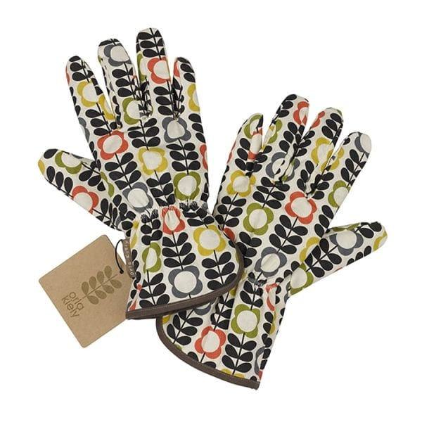 Orla Kiely Garden Gloves Big Summer Flower Print