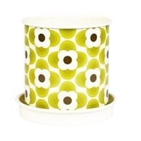 Orla Kiely Abacus Planter Pot | Large | Olive Green