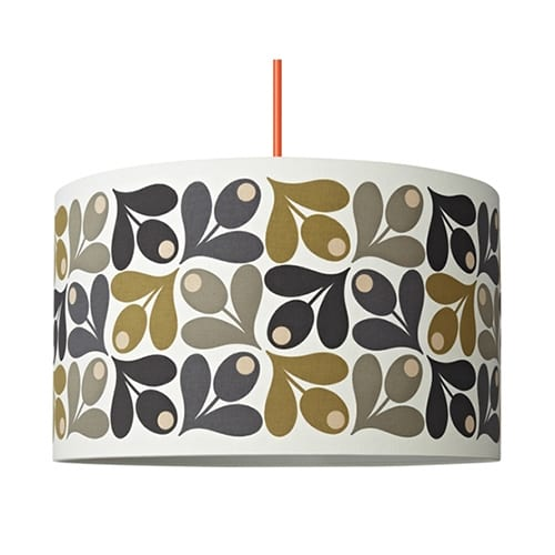 Orla Kiely Drum Lamp Shade Acorn Multi Cup | Large