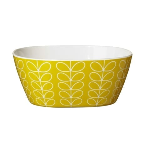 Orla Kiely Melamine Bowl | Linear Stem Yellow