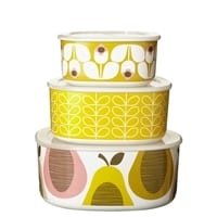 Orla Kiely Melamine Storage Bowls | Giant Wallflower - Set of 3