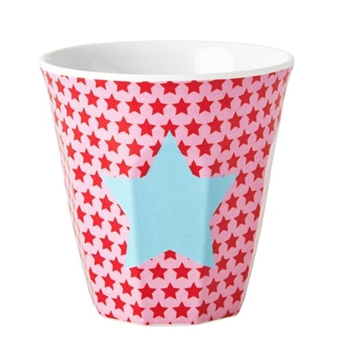 Rice Childrens Melamine Cup | Pink Star