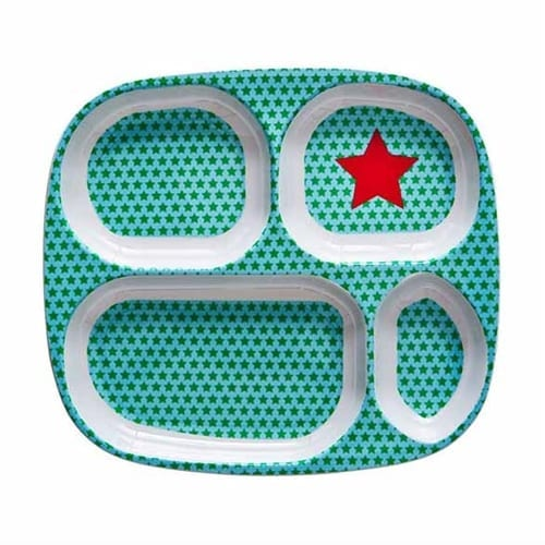 Rice Childrens Melamine Tray | Red Star